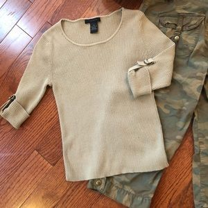 The Limited Ribbed Scoopneck Sweater Top Size XS